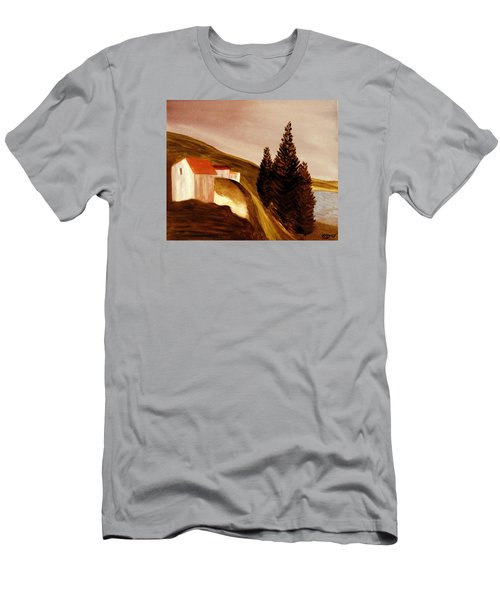 Men's T-Shirt (Slim Fit) featuring the painting Twilight by Bill OConnor