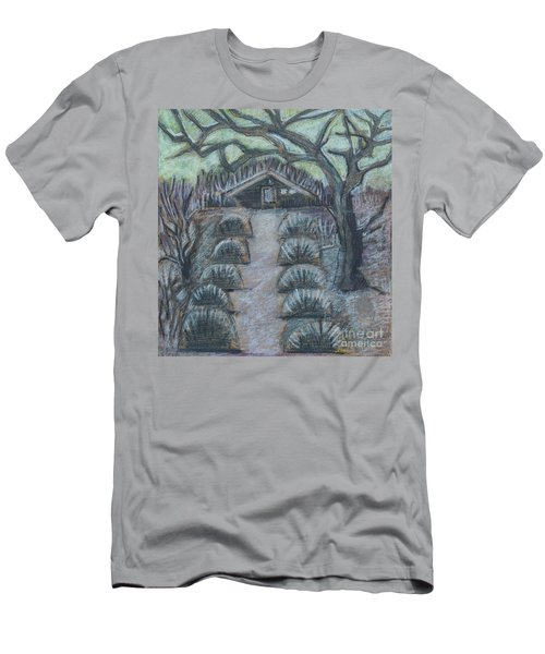 Men's T-Shirt (Athletic Fit) featuring the drawing Twilight In Garden, Illustration by Ariadna De Raadt