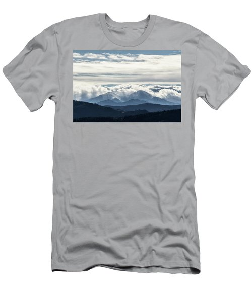 Men's T-Shirt (Athletic Fit) featuring the photograph Twin Peaks by Tyson Kinnison