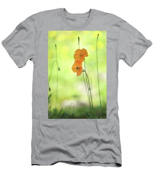 Twins. Orange Poppies Men's T-Shirt (Athletic Fit)
