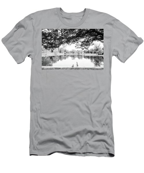 Men's T-Shirt (Slim Fit) featuring the photograph Two At The Pond by Karol Livote