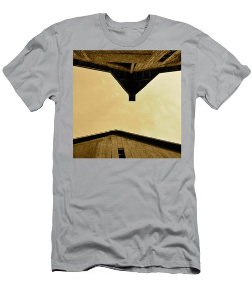 Two Barns In Sepia Men's T-Shirt (Athletic Fit)