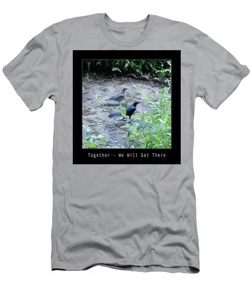 Two Birds Blue Men's T-Shirt (Slim Fit) by Felipe Adan Lerma