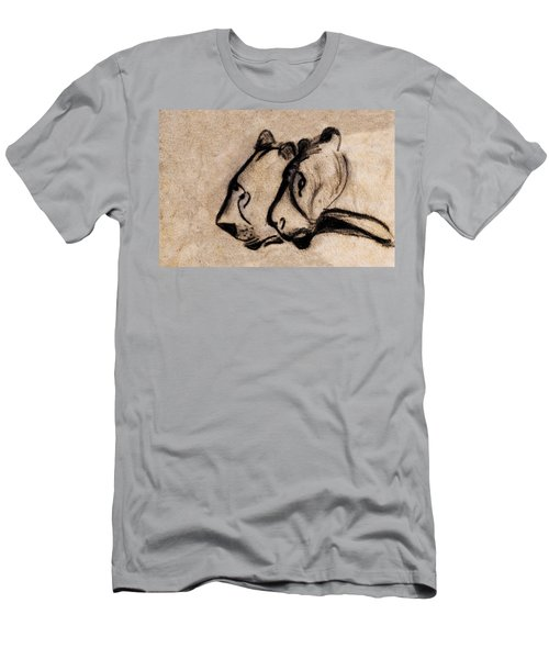 Two Chauvet Cave Lions - Clear Version Men's T-Shirt (Athletic Fit)