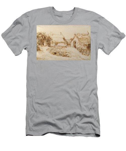Two Cottages At Saintes Maries De La Mer Men's T-Shirt (Athletic Fit)