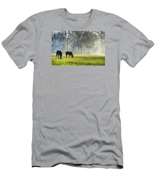 Two Horse Morning Men's T-Shirt (Athletic Fit)