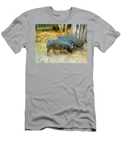 Two Little Pigs Men's T-Shirt (Athletic Fit)