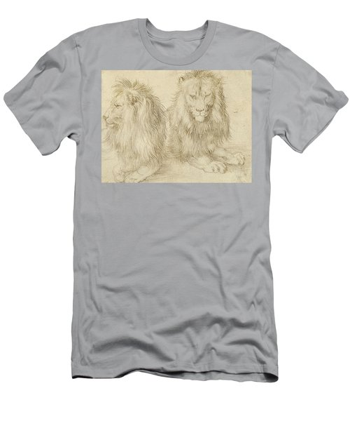 Two Seated Lions Men's T-Shirt (Athletic Fit)