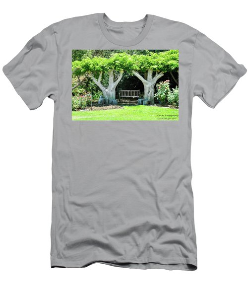 Two Tall Trees, Paradise, Romantic Spot Men's T-Shirt (Slim Fit) by Gandz Photography