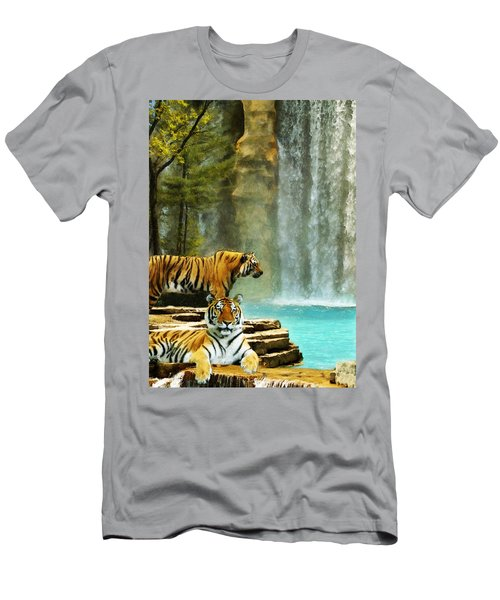 Two Tigers Men's T-Shirt (Athletic Fit)