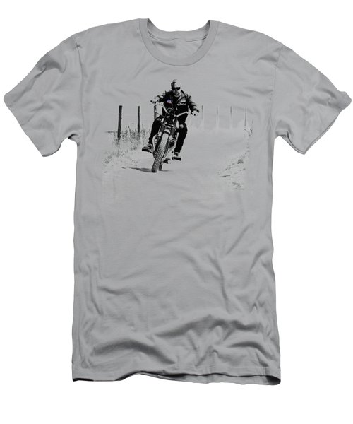 Two Wheels Move The Soul Men's T-Shirt (Slim Fit) by Mark Rogan