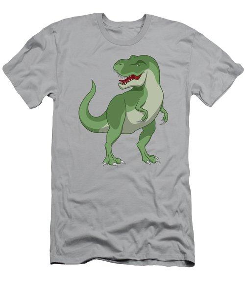Tyrannosaurus Rex Dinosaur Green Men's T-Shirt (Athletic Fit)