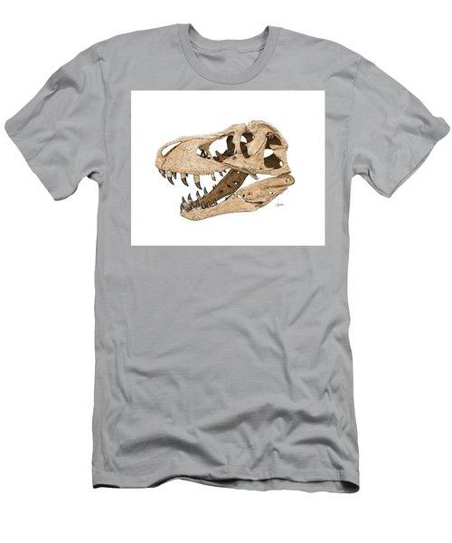 Tyrannosaurus Skull Men's T-Shirt (Athletic Fit)