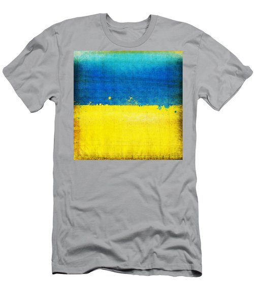 Ukraine Flag Men's T-Shirt (Athletic Fit)
