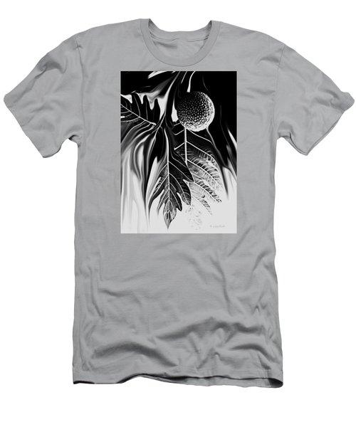 Ulu - Breadfruit Abstract Men's T-Shirt (Slim Fit) by Kerri Ligatich