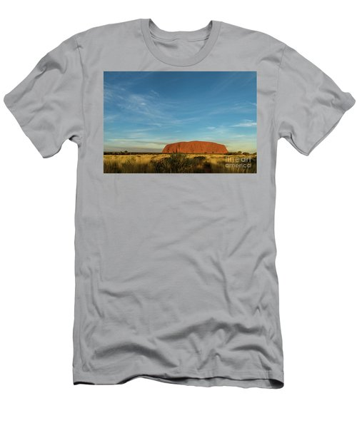 Men's T-Shirt (Athletic Fit) featuring the photograph Uluru Sunset 01 by Werner Padarin
