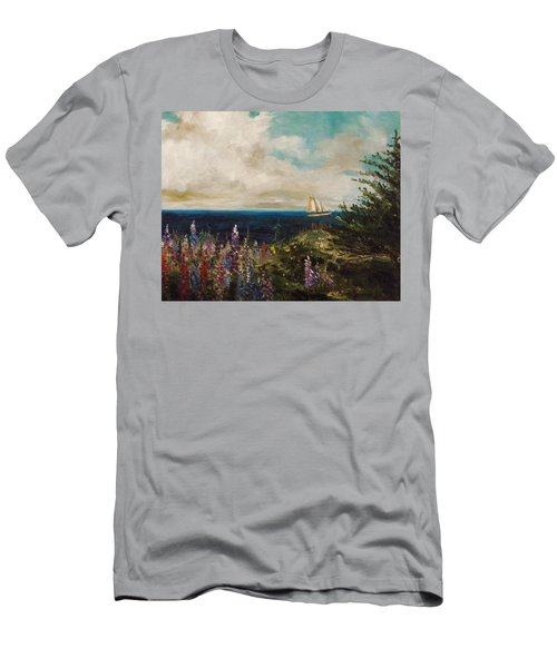 Men's T-Shirt (Slim Fit) featuring the painting Under Full Sail by John Williams