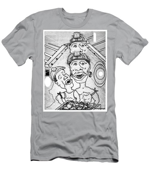 Underground Mine Workers In South Africa Men's T-Shirt (Athletic Fit)