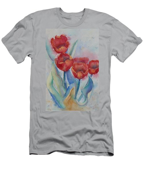Undersea Tulips Men's T-Shirt (Athletic Fit)