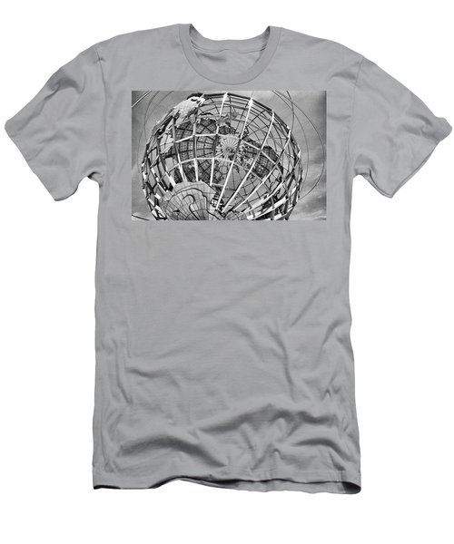 Unisphere In Black And White Men's T-Shirt (Athletic Fit)