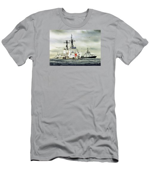 United States Coast Guard Boutwell Men's T-Shirt (Slim Fit) by James Williamson