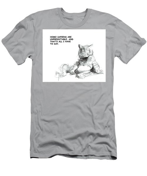 Unpredictable Cat Men's T-Shirt (Athletic Fit)