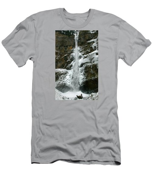 Upper Multnomah Falls Ice Men's T-Shirt (Athletic Fit)