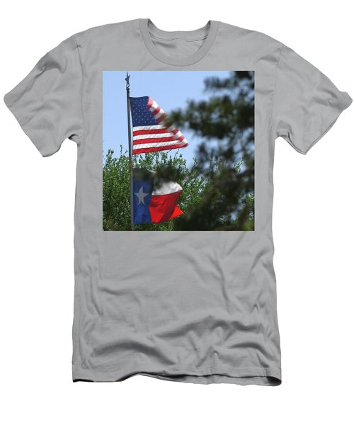 Usa Blesses Texas Men's T-Shirt (Athletic Fit)