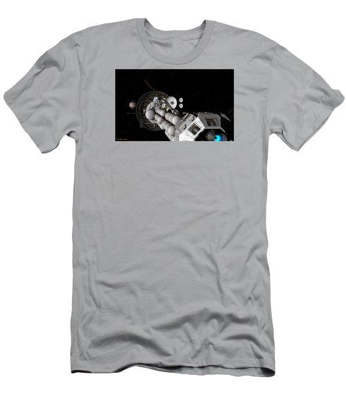 Uss Savannah Nearing Jupiter Men's T-Shirt (Slim Fit) by David Robinson
