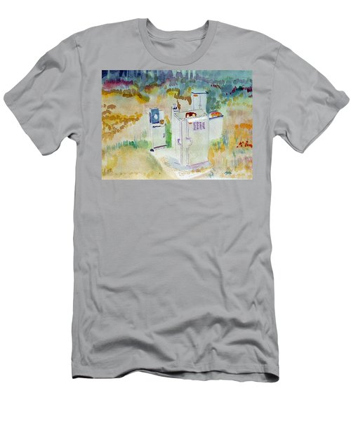 Utility Boxes Near A Forest Men's T-Shirt (Athletic Fit)