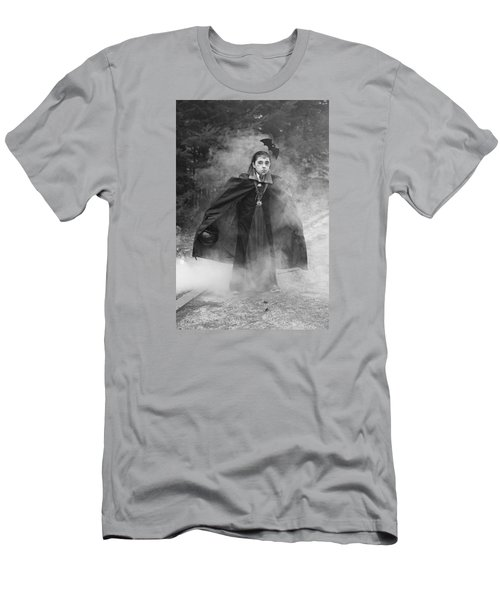Men's T-Shirt (Slim Fit) featuring the photograph Vampire In The Fog by Barbara West