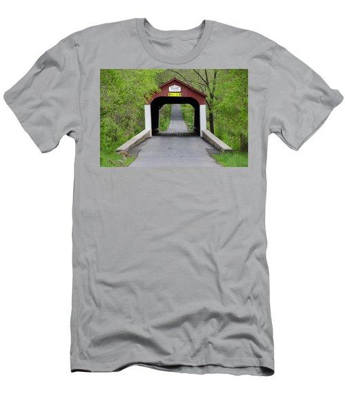 Van Sandt Covered Bridge - Bucks County Pa Men's T-Shirt (Athletic Fit)