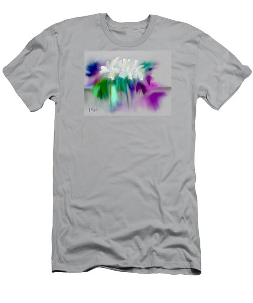 Men's T-Shirt (Slim Fit) featuring the digital art Vase And Blooms Abstract by Frank Bright