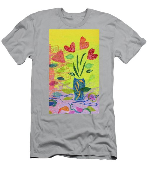 Vase Full Of Love Men's T-Shirt (Athletic Fit)