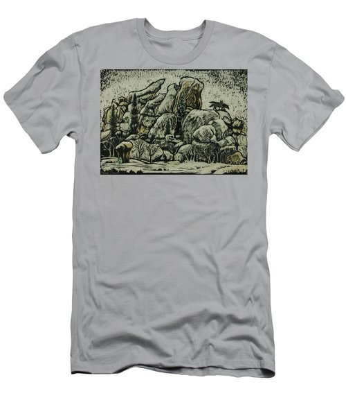 Men's T-Shirt (Slim Fit) featuring the drawing Vedauwoo by Dawn Senior-Trask