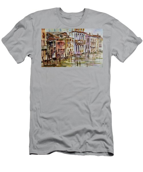 Men's T-Shirt (Slim Fit) featuring the painting Venice Impression II by Xueling Zou