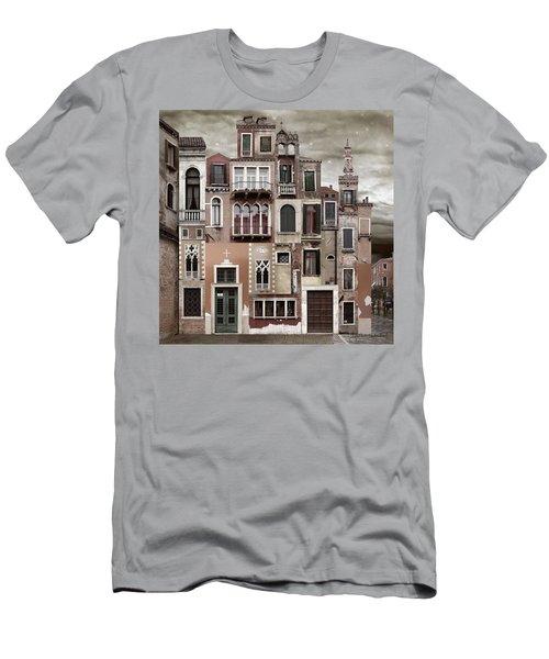 Venice Reconstruction 2 Men's T-Shirt (Slim Fit) by Joan Ladendorf