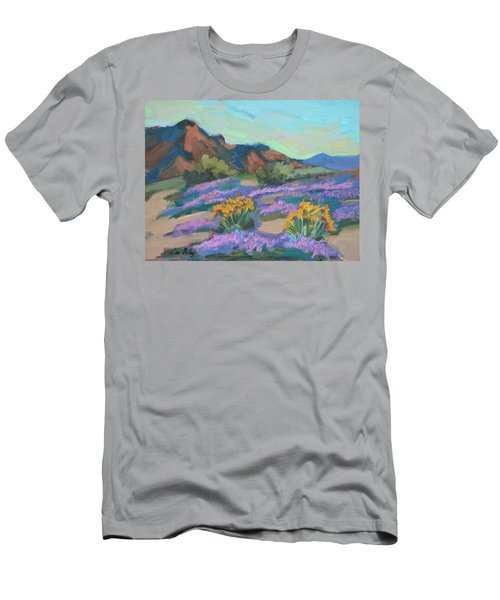 Men's T-Shirt (Slim Fit) featuring the painting Verbena And Spring by Diane McClary