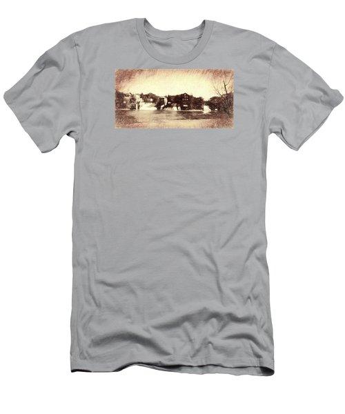 Vergennes Falls, Vt 2015 Men's T-Shirt (Slim Fit) by Rena Trepanier