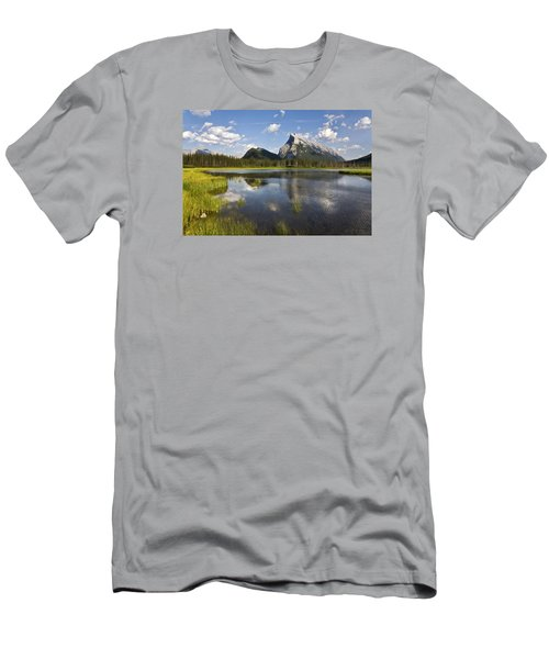 Vermillion Lake And Sulpher Mountain Men's T-Shirt (Athletic Fit)