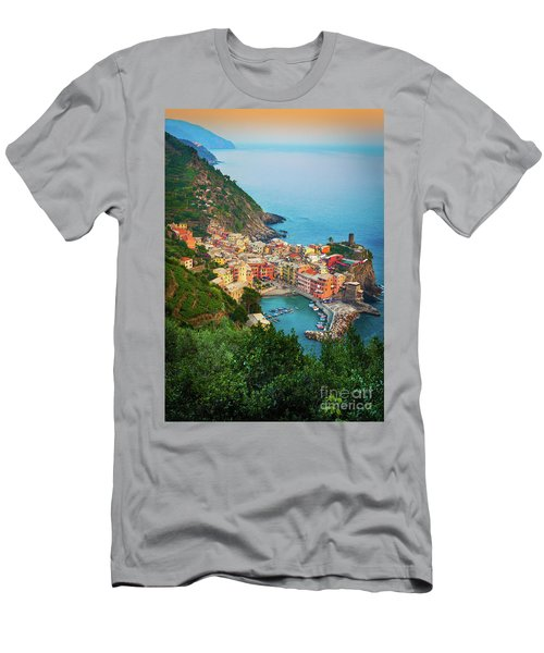 Vernazza From Above Men's T-Shirt (Athletic Fit)