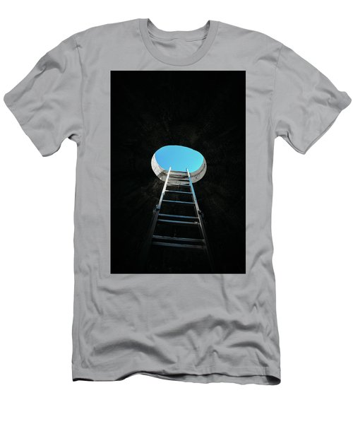 Vertical Step-ladder On Ceiling Window  Men's T-Shirt (Athletic Fit)