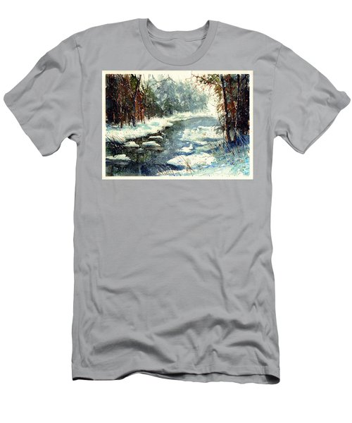 Very Cold Winter Watercolor Men's T-Shirt (Athletic Fit)