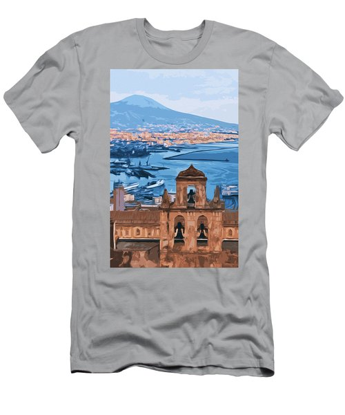 Vesuvio, Panorama From Naples Men's T-Shirt (Athletic Fit)