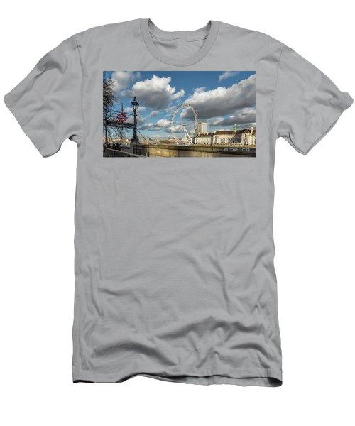 Victoria Embankment Men's T-Shirt (Slim Fit) by Adrian Evans