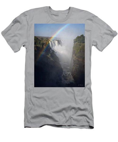 Victoria Falls No. 3 Men's T-Shirt (Slim Fit) by Joe Bonita