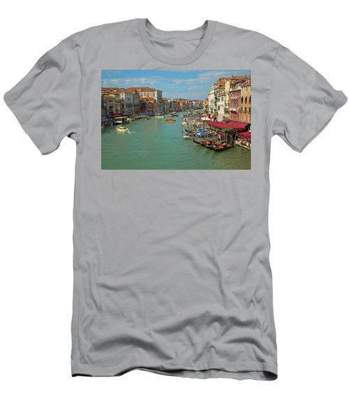 Men's T-Shirt (Slim Fit) featuring the photograph View From Rialto Bridge by Sharon Jones