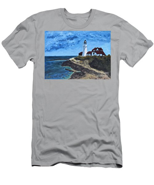 View From The North Portland Head Light Men's T-Shirt (Athletic Fit)