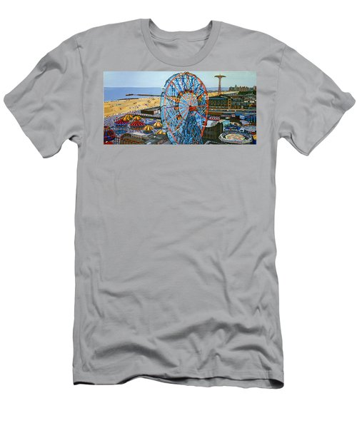 View From The Top Of The Cyclone Rollercoaster Men's T-Shirt (Athletic Fit)