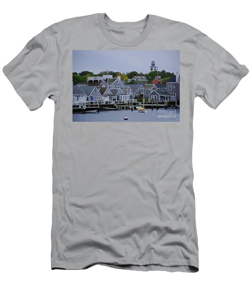 View From The Water Men's T-Shirt (Slim Fit) by Lori Tambakis